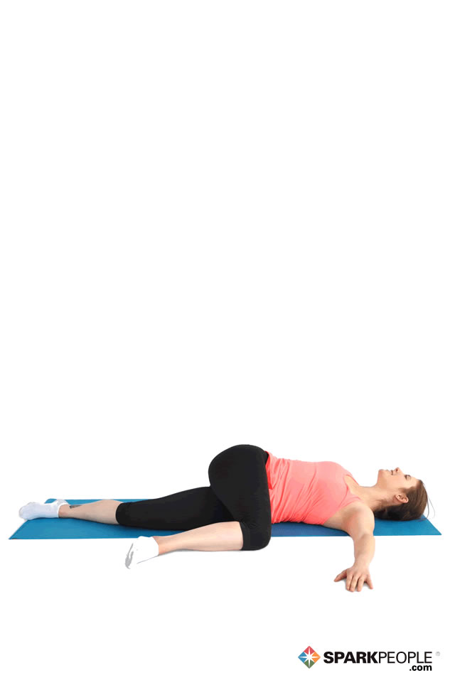 Lying Hip & Glute Stretch Exercise