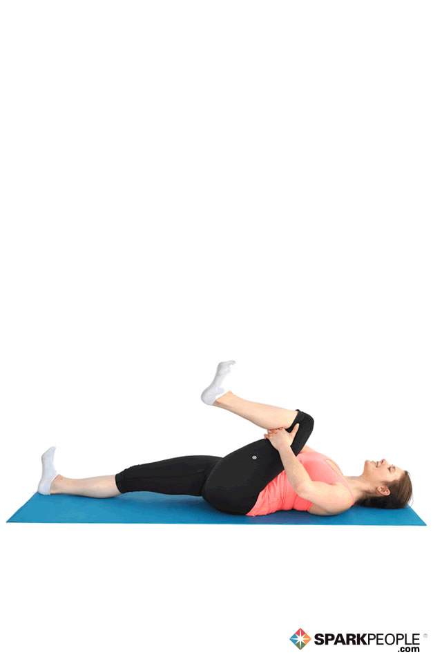Lying Single Knee Hug Exercise