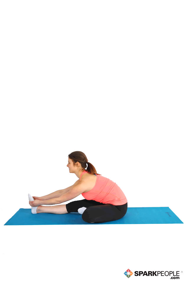 Seated Advanced Hurdler Stretch Exercise