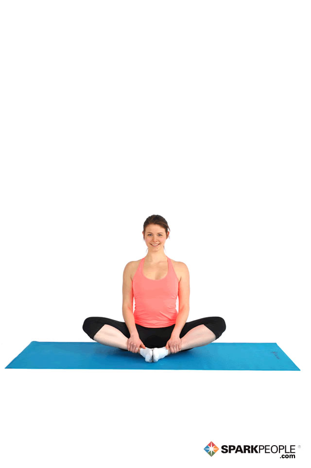 Seated Butterfly Stretch Exercise