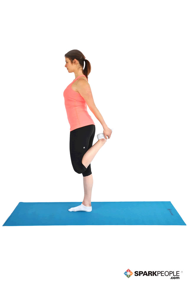 Standing Quad Stretch Exercise