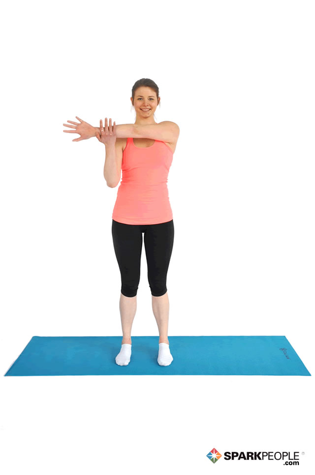 Standing Shoulder Stretch Exercise