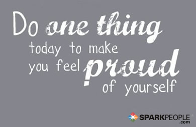 Motivational Quote - Do one thing today to make you feel proud of yourself.