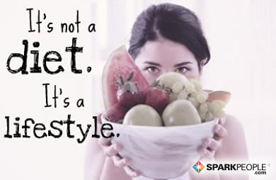 Motivational Quote - It's not a diet. It's a lifestyle.