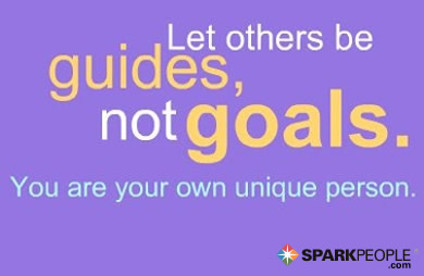 Motivational Quote - Let others be guides, not goals. You are your own unique person.