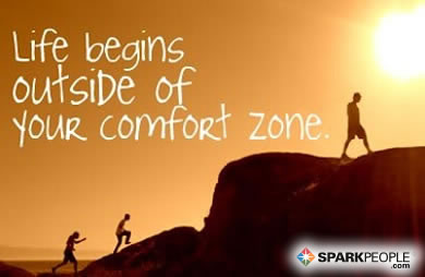 Motivational Quote - Life begins outside of your comfort zone.