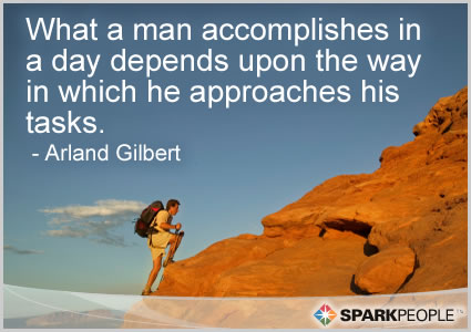 Motivational Quote - What a man accomplishes in a day depends upon the way in which he approaches his tasks.