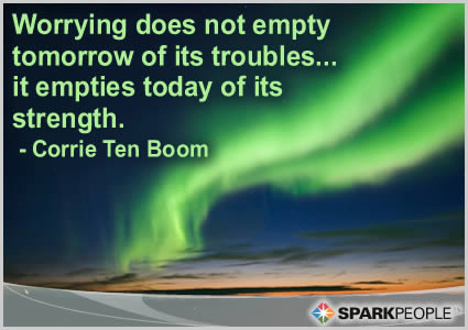 Motivational Quote - Worrying does not empty tomorrow of its troubles…. it empties today of its strength.