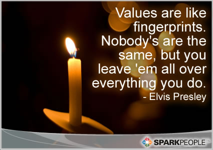 Values Are Like Fingerprints Nobody S Are The Same But