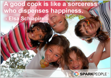 Motivational Quote - A good cook is like a sorceress who dispenses happiness.