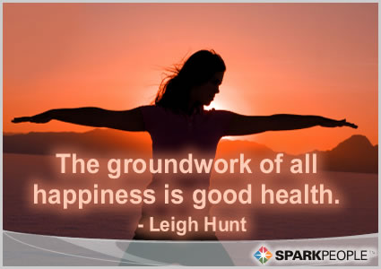 Motivational Quote - The groundwork of all happiness is good health.