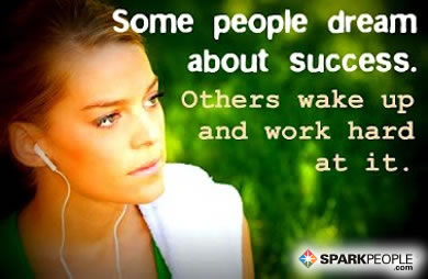 Motivational Quote - Some people dream about success. Others wake up and work hard at it.