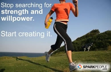 Motivational Quote - Stop searching for strength and willpower. Start creating it.