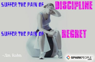 Motivational Quote - Suffer the pain of discipline or suffer the pain of regret.