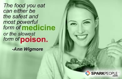Motivational Quote - The food you eat can be either the safest and most powerful form of medicine or the slowest form of poison.