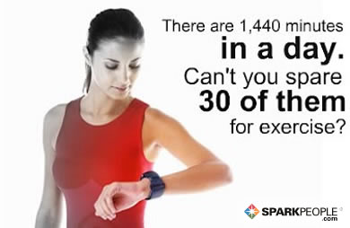 Motivational Quote - There are 1,440 minutes in a day. Can't you spare 30 of them for exercise?