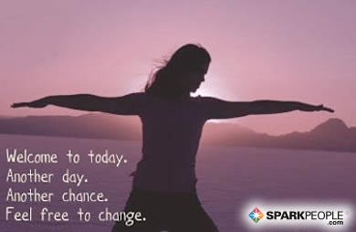 Motivational Quote - Welcome to today. Another day. Another chance. Feel free to change.