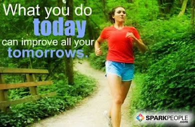 Motivational Quote - What you do today can improve all of your tomorrows.