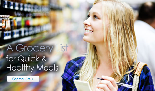 A Grocery List for Quick and Healthy Meals